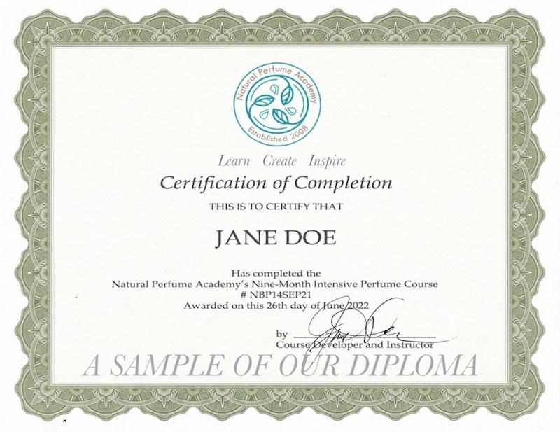 Diploma Natural Perfumer